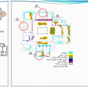 آسیب شناسی خانه افشاریان شیراز