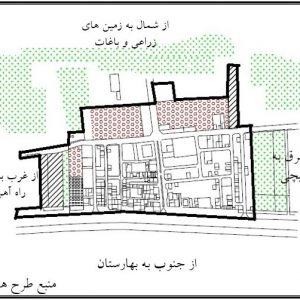 موقعیت قرارگیری روستای قلعه شور اصفهان