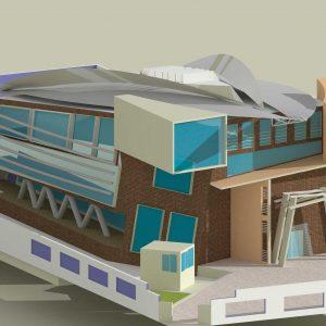 پروژه-معماری-کتابخانه