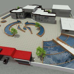پروژه معماری هنرستان 20 کلاسه