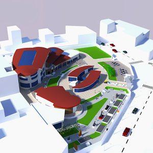 پروژه معماری مرکز هنرهای تجسمی