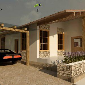 پروژه طراحی معماری خانه ویلایی