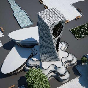 پروژه طراحی معماری سالن مد