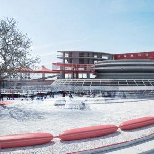 پروژه معماری مجموعه ورزش های زمستانی