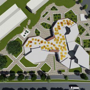 پروژه طراحی معماری فرهنگسرا