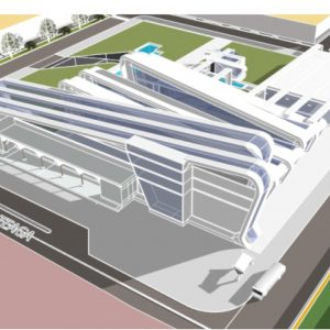 پروژه معماری بیمارستان 64 تختخوابی