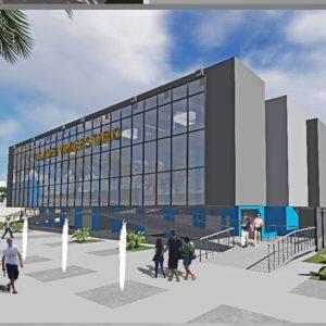 پروژه طراحی سالن چند منظوره ورزشی