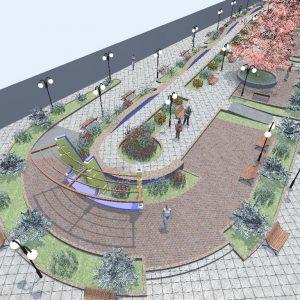 پروژه معماری پیاده راه