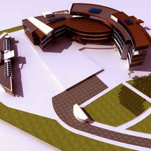 پروژه طراحی مجتمع تجاری فرهنگی اداری