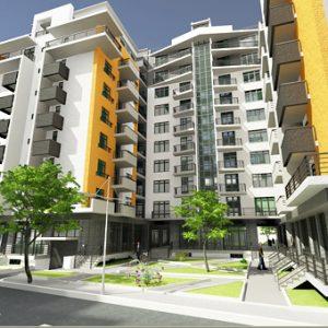 پروژه معماری مجتمع مسکونی 130 واحدی