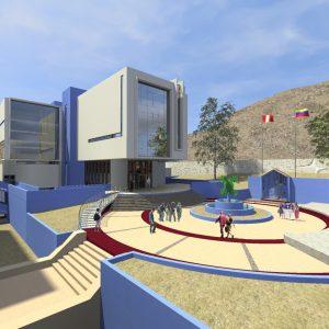 پروژه طراحی معماری کتابخانه مرکزی