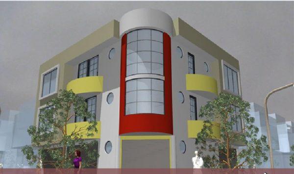 پروژه معماری مجتمع اداری تجاری