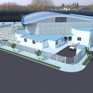پروژه طراحی معماری سالن ورزشی چند منظوره