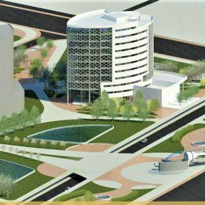 پروژه معماری برج اداری