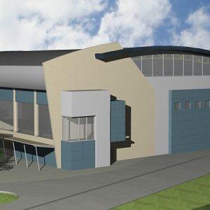 پروژه معماری سالن ورزشی