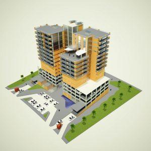 پروژه معماری برج چند منظوره