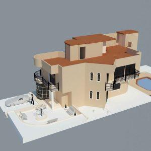 دانلود پروژه طراحی معماری ویلا سه طبقه