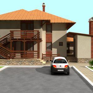 پروژه طراحی ویلا دو طبقه