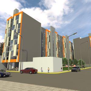 پروژه طراحی معماری مجتمع تجاری