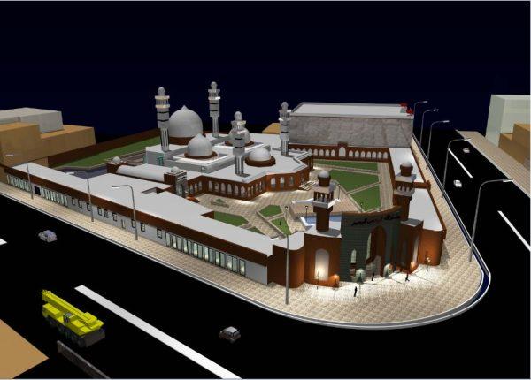 پروژه معماری طراحی مسجد