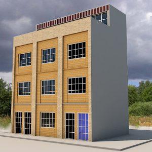 پروژه طراحی ساختمان مسکونی 3 طبقه