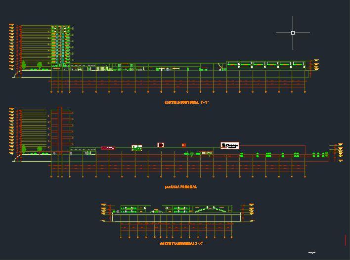 برش های طولی و عرضی پروژه معماری