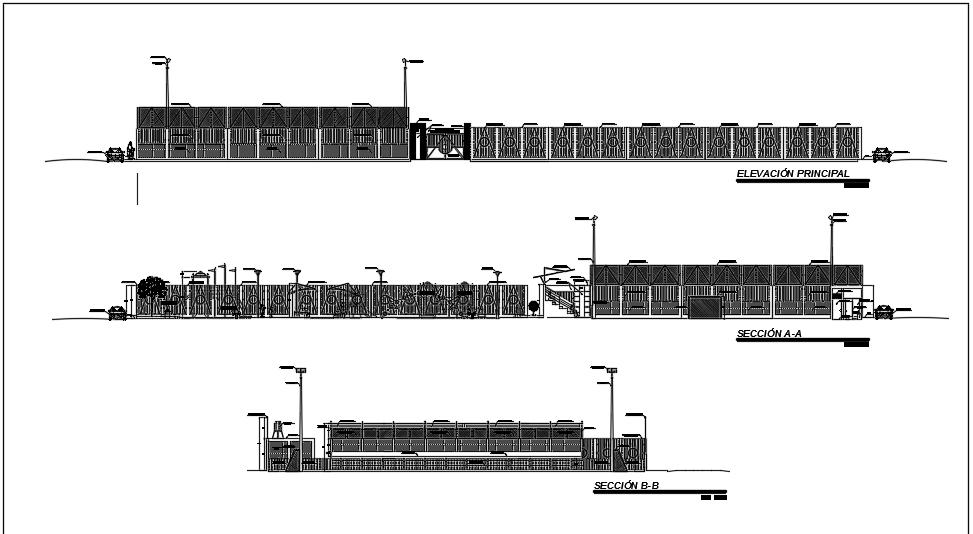 نما و برش معماری پروژه